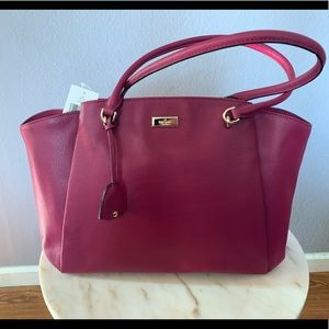 Kate Spade Ashlee Anna Court in red plum